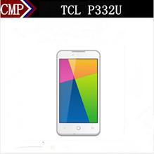 Original TCL P332U 4G LTE Mobile Phone MTK6582 Quad Core Android 4.4 4.5 Inch IPS 854X480 512MB RAM 4GB ROM 3.0MP Dual Sim(China (Mainland))