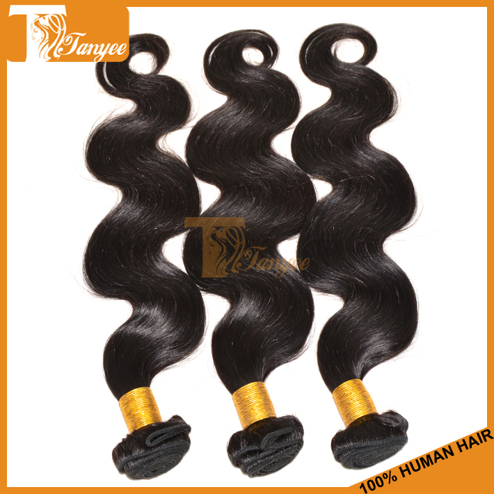 Top Hot AAAAA Chinese Body Wave Hair Weaving 100% Virgin Tangle free(China (Mainland))