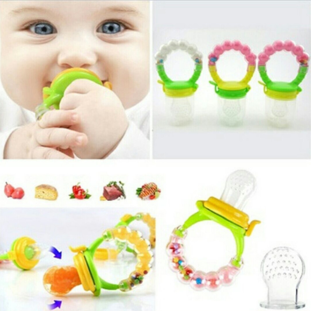 Kids silicone avent nipple fresh food milk fruits meat nibbler feeder font b feeding b font