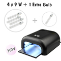 2016 latest Melody Susie 36W UV Lamp Nail Dryer Nail Lamp Curing for UV Gel Polish