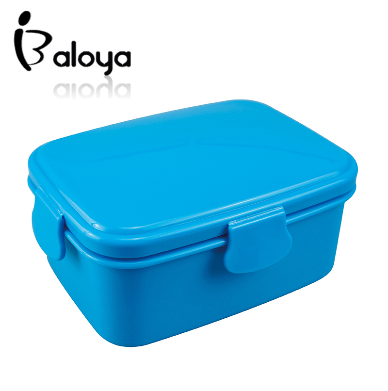Plastic lunch box bento boxes food container for food carton for kid microwave cutlery set 700ml(China (Mainland))