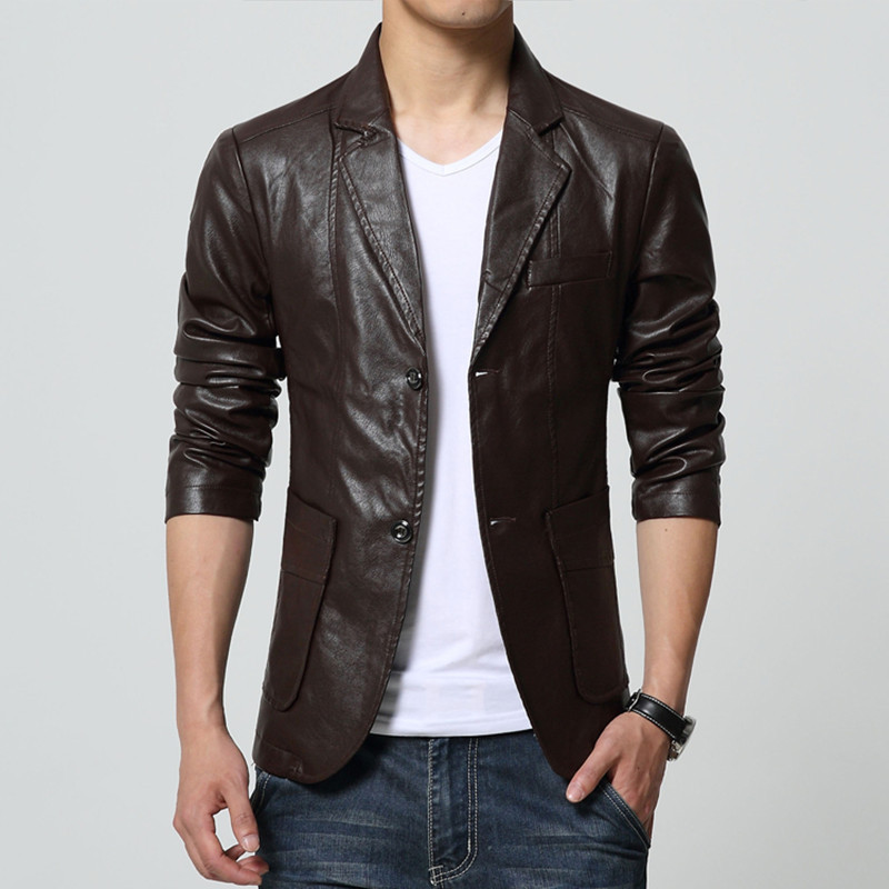 2016 New Arrival Men Brand Washing PU Leather Motorcycle Jackets for Male Large Size M-4XL 5XL 6XL 7XL Khaki Brown Black Color(China (Mainland))