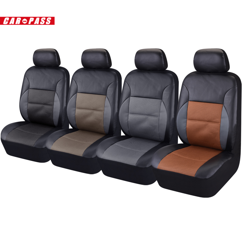 2016 new design  PU Leather Auto Seat Cover Full Synthetic Set   2 Front Seat Covers Car Covers<br><br>Aliexpress
