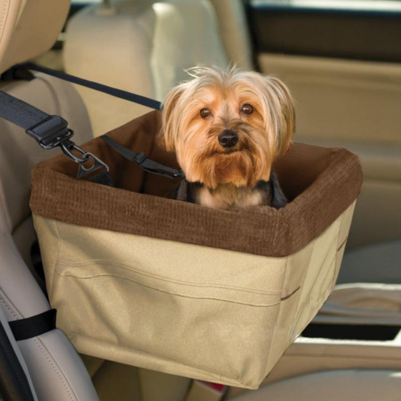 Car Front Seat Dog Cage Pet Waterloo Comfort Travel Pet Carrier Dog Booster Seat for Cars with Seat Belt Tether -MJ(China (Mainland))