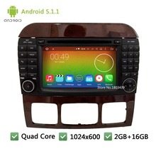 Quad core Android 5.1.1 Car DVD Player Radio Audio Stereo Screen GPS For Mercedes-Benz CL-W215 S Class W220 S280 S420 S430 S320