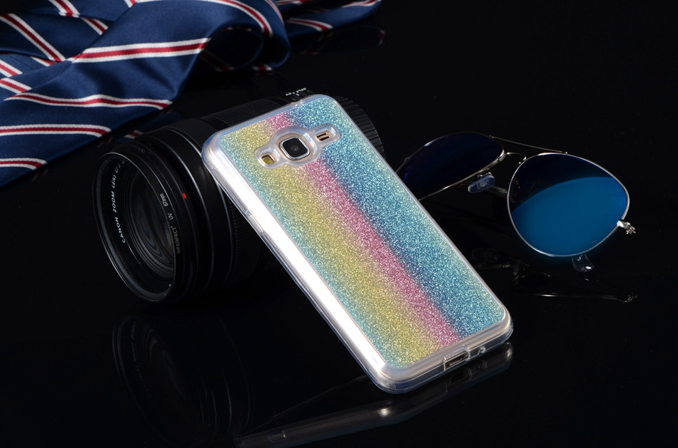 Glitter Cases For Samsung Galaxy S4 I9500 /S5 I9600 /S5 Mini G800 /S Duos 2 S7562 Soft Silicone Covers Shiny Sequin Phone Bags