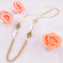 New Arrive Statement Necklace For Women Handmade Elegant Stylish Multi Layers Chains Long Necklace Gold Women Accessories1507-1