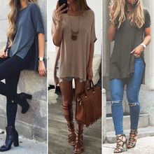 Buy Fashion Women Ladies Clothing Summer Short Sleeve Shirt Casual T-Shirts Loose Cotton Tops T Shirt Women Clothes Big Size for $4.63 in AliExpress store