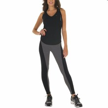New 2015 Women Sports Pants Elastic Exercise Pants Female Sports Elastic Fitness Running Trousers Slim Pants Black Gray