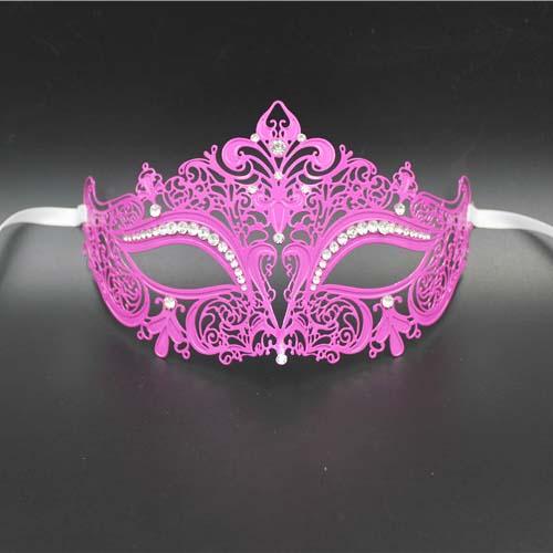 Purple Red Venetian Laser cut Metal Masquerade Mask Ball Costume Prom Party Mask Half Face Wedding Birthday Masks Photo Props(China (Mainland))