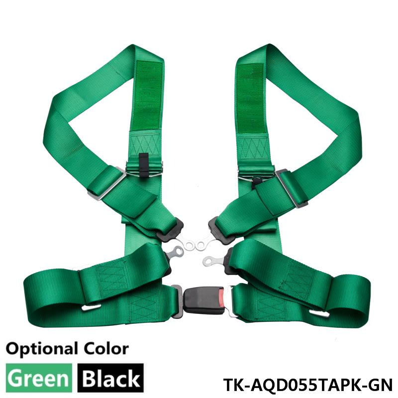 2 NYLON 4PT POINTS HARNESS RACING SEAT BELT Black/Green (Default color GREEN) TK-AQD055TAPK<br><br>Aliexpress