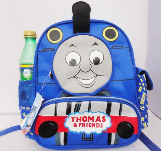 Thomas train design schoolbag New fashion backpack for children 2 colors free shipping(China (Mainland))