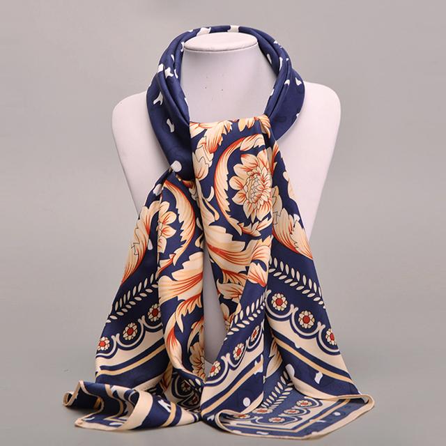 Новые 2016 женщин шарф 100% саржевые шелковый евро бренд печать 100 см * 100 см косынка ...
