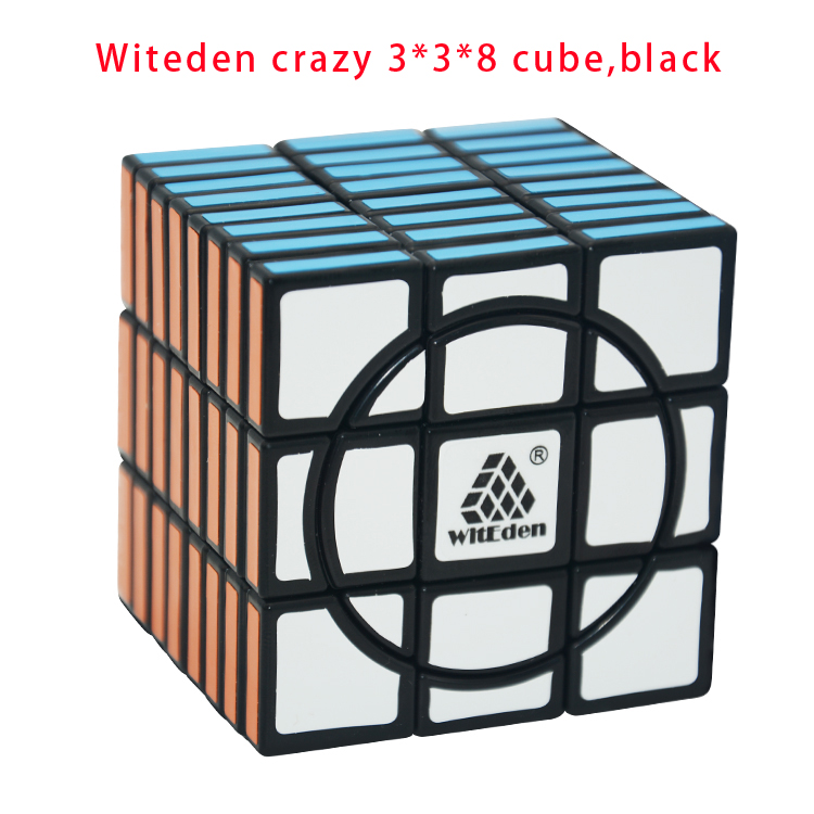 Witeden Crazy 3*3*8 Cube, Black Puzzle Cubo Magic Child Grownups Brain Teaser Educational Toys Puzzle Cube Crazy 3x3x8 Cube(China (Mainland))
