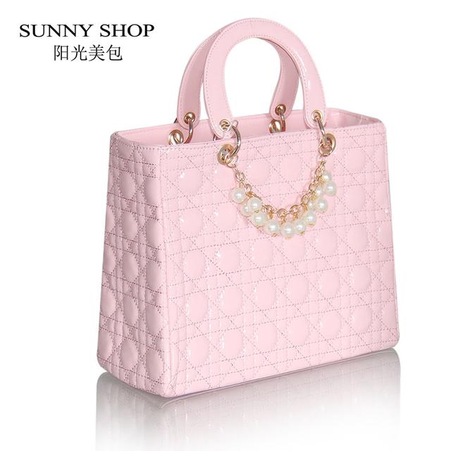 SUNNY SHOP women's handbag plaid fashion bridal bag Wedding  party beading shoulder bag PU leather women party bag