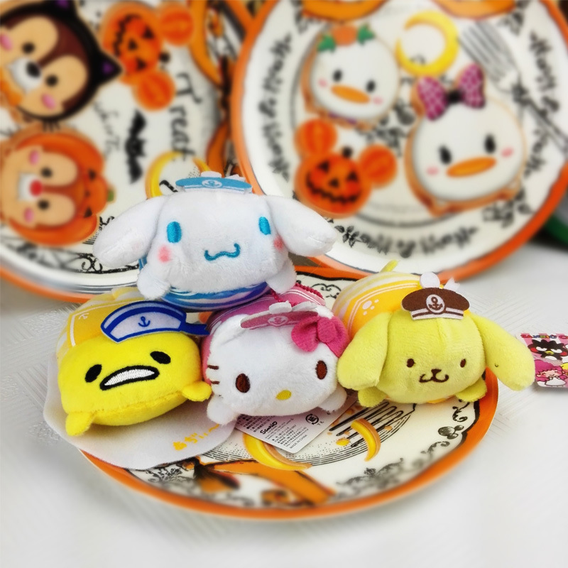 Free shipping 2016 new TSUM TSUM mobile phone screen cleaning Plush Navy version KITTY Plush Doll white pudding dog Pendant(China (Mainland))