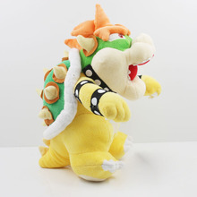 1Pcs 10inch 25cm Super Mario Plush Bowser Koopa stand Plush Toys Kuba Doll Free Shipping(China (Mainland))