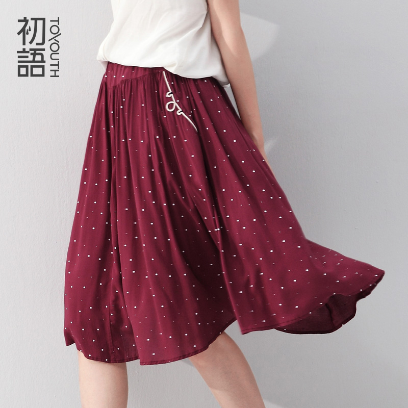 To Youth Summer Saias Femininos Fashion Office Ladies New Brand Design Woman Autumn Elegant Polka Dot High Waist Pleated SkirtОдежда и ак�е��уары<br><br><br>Aliexpress