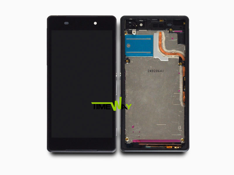 100% Test for Sony z2 lcd screen for sony Xperia Z2 L50W L50T D6503 lcd with touch screen digitizer assembly replacement +Frame
