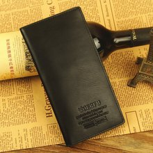 2015 Wholesale solid magic men wallets Zipper soft long male clutch bag thin brand leather portfolio