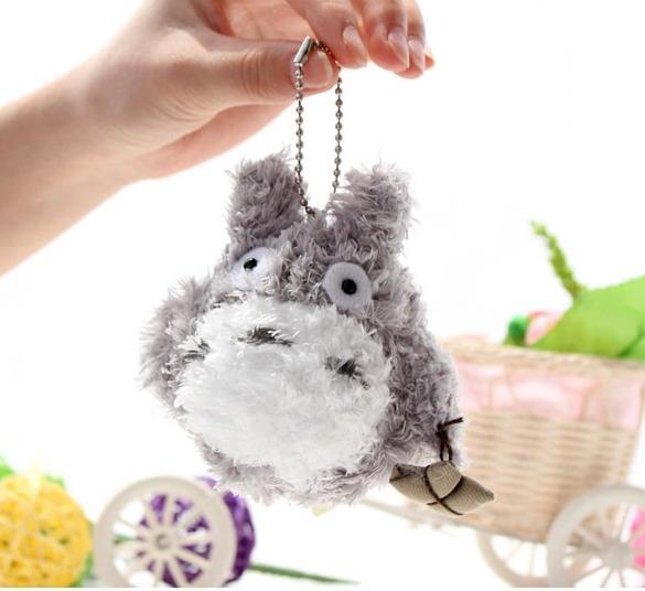Fashion Keyring chain/Cartoon animals DIY New Cute cartoon totor cats plush charm/ Mobile Phone Straps / Pendant / / Wholesale(China (Mainland))