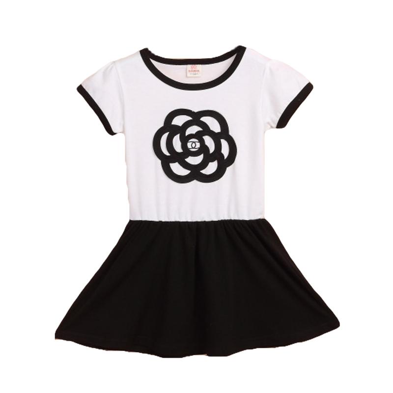 New 2016 Summer Girl Princess Dress Print Flower Design Baby Kids Tutu Casual Dresses Children Cotton Costume Clothes CC181-HDR(China (Mainland))