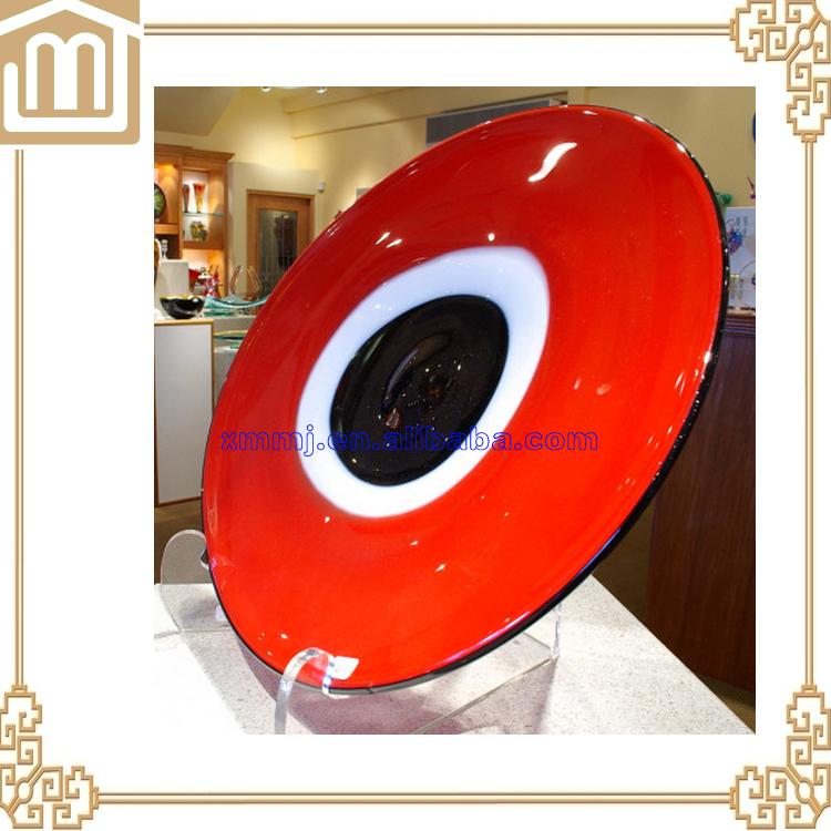 Rond plat multicolore d corative plaque de verre ornement for Acheter plaque de verre