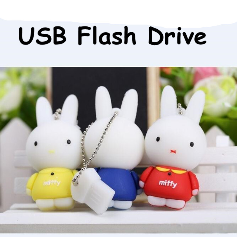 Rabbit High Speed USB Flash Drives USB 2.0 Pen Drive 64GB/32GB/16GB/8GB/4GB Memory Flash Card U Disk Creative Gift<br><br>Aliexpress