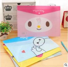 Cute Cartoon Animals PVC A4 File Folder Document Filing Bag Stationery Bag H1373(China (Mainland))