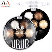Pigment Eyeshadow 5 Colors Eye Shadow Powder Metallic Shimmer UBUB Warm Color