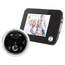 Black 3.5 Inch LCD TFT Digital HD Monitor Display Door Peephole Viewer Auto-Photo-Snapping / Video Recoding(China (Mainland))