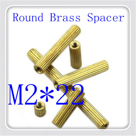 500pcs/lot Factory Direct  High Quality PCB M2*22 Brass  Female to Female Standoff  Spacer<br><br>Aliexpress