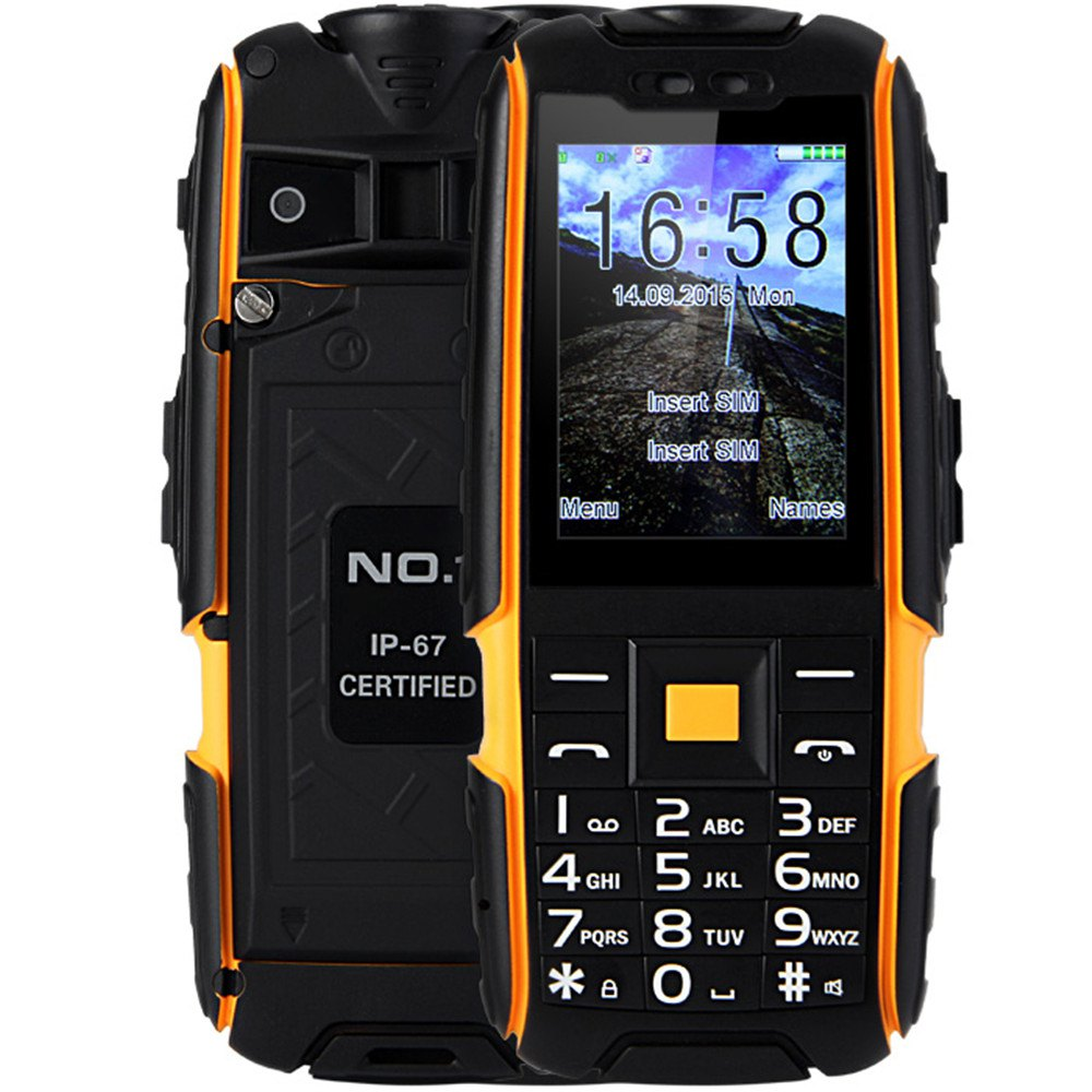 2016 New A9 Quad Band Unlocked Phone Dual SIM IP67 Waterproof Dustproof Shockproof FM with Flashlight Camera Mobile Phone(China (Mainland))