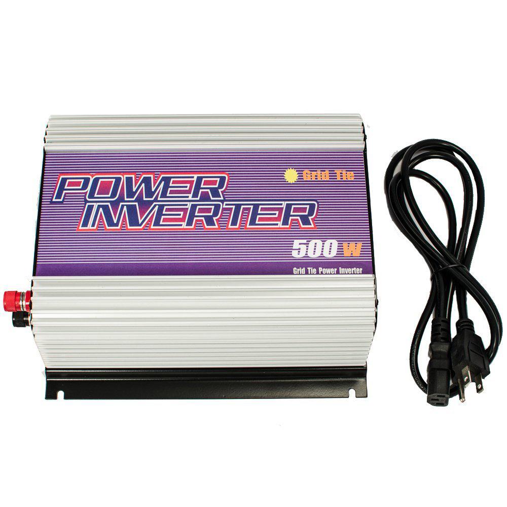 500W Grid Tie Inverter MPPT 10.5-30V;22-60VDC to 110V 230V AC Micro Grid Tie Pure Sine Wave Inverter 22V 60V to 110V 220V(China (Mainland))