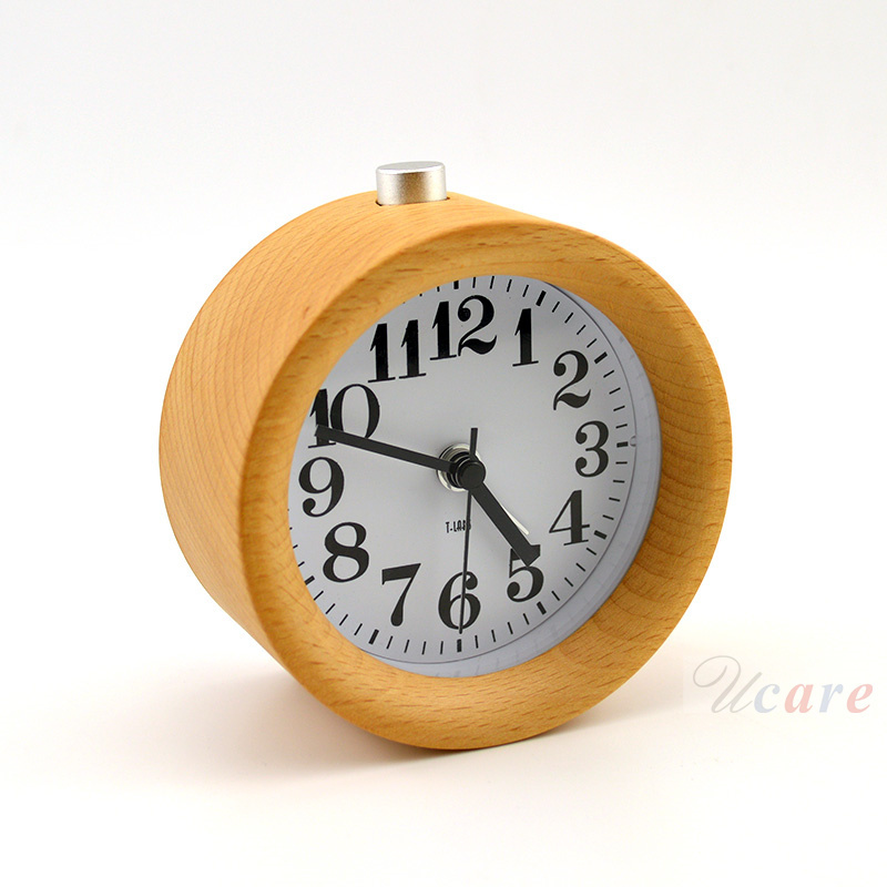 2015 Brand Retro Round 3dtime Backwards Wood Desk Clocks