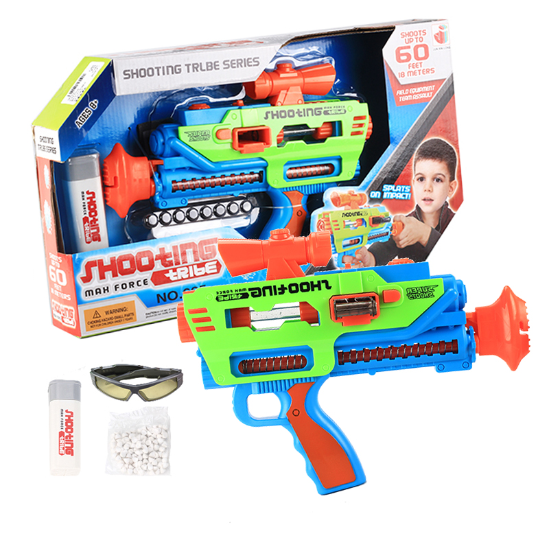 2017 new toys Mechanical gun paper bullet soft bullet pistol long range Continuous firing include simulation party baby toys(China (Mainland))