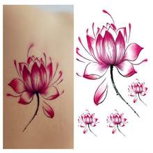 Tattoo Sticker Lotus Pattern Waterproof Temporary Tattooing Paper Body Art Temporary Tattoo RC228(China (Mainland))