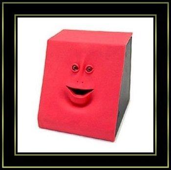 Free Shipping 4pcs/lot Face Bank Money Coin Saving Box Mouth Sensors Facebank Toys Gifts(Blue,Red,Pink)