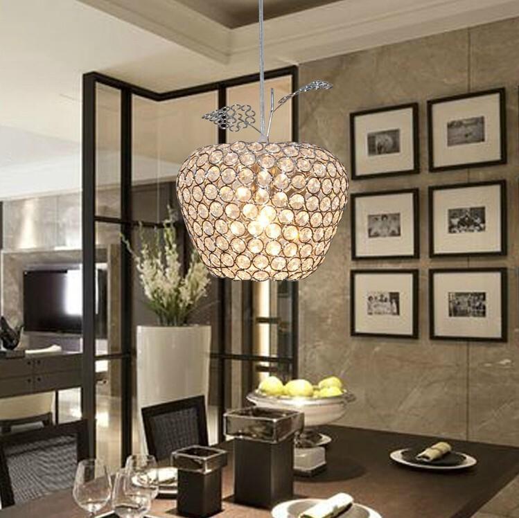 modern best-selling LED Square k9 crystal Apple Chandeliers Crystal/Al AC85-260V crystal Apple lighting(China (Mainland))