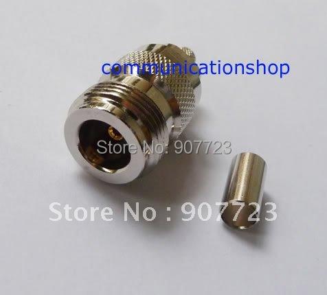 100pcs N female crimp for RG58 RG142 RG400 LMR195 RF Connector<br><br>Aliexpress