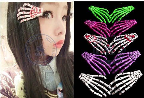scare multi color option hair clips hairpins Accessories decor Lady girl's CN post(China (Mainland))