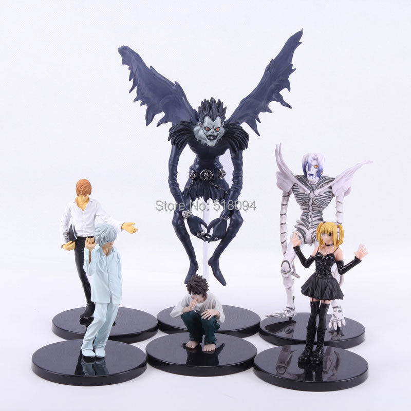 Anime Death Note L Killer Ryuuku Rem Misa Amane PVC Action Figures Toys 6pcs/set DNFG002(China (Mainland))