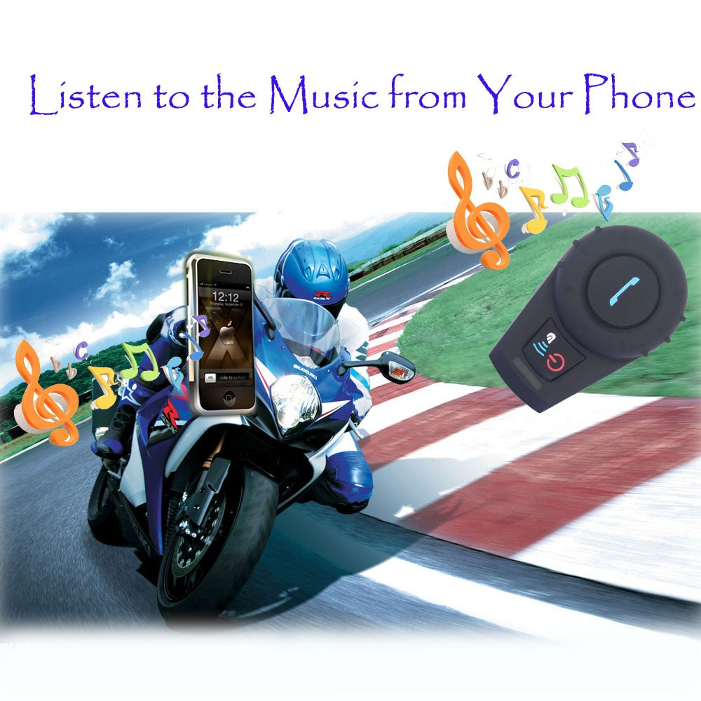 Soft Earphone! FDC-VB 500M HiFi BT Bluetooth Motorcycle BT Interphone Helmet Intercom Headset Intercom Motorcycle