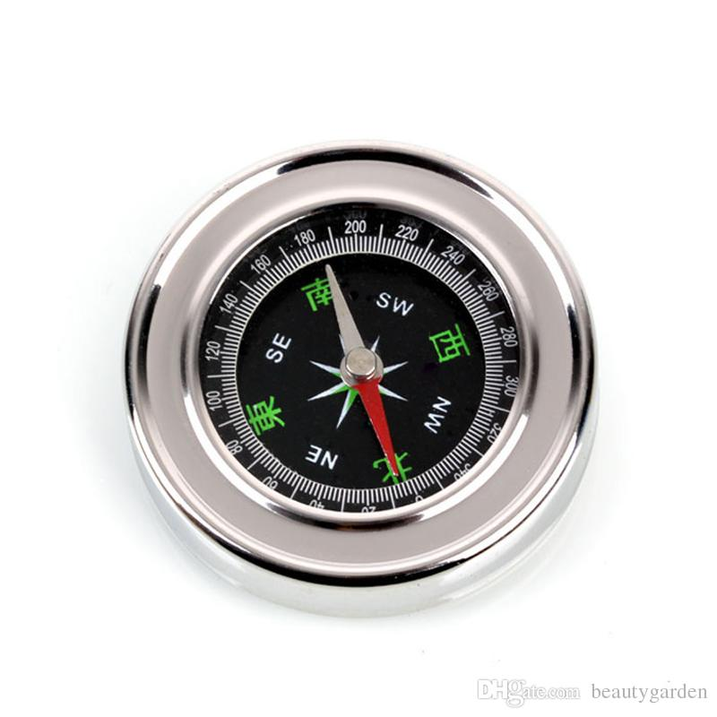 Mini Handheld Metal Compass 60mm Stainless Steel Navigation Travel Hiking Equipments OS138(China (Mainland))