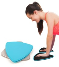 1 pair Dual Sided Fitness Gliders Slide Discs Core Sliders Core Ab Workout Gym Exercise Training Slimming Equipment Slid Discs(China (Mainland))
