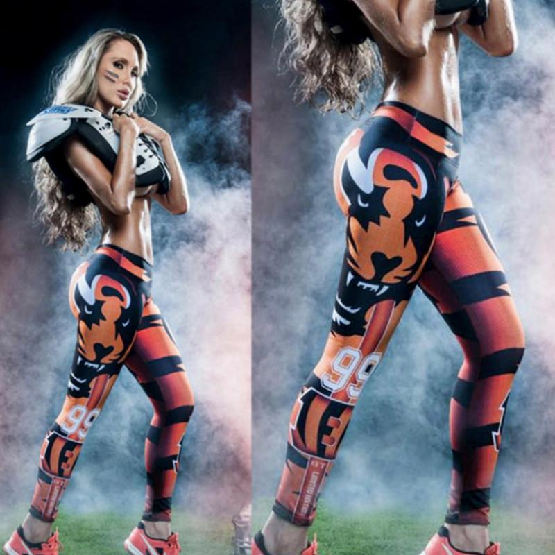 Tiger font b Women b font Yoga Sport font b Pants b font Elastic Wicking Force
