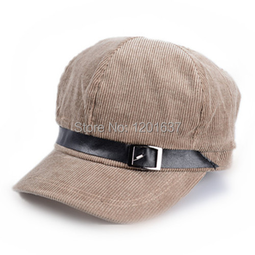 2015 Sale Limited Adult Casual Unisex free Classical Korean Fashion Caps Solid Corduroy Newsboy Hats for Belt Buckle Hat Goldtop(China (Mainland))
