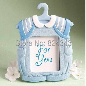 10+Best Selling Cute Baby Themed Picture Frame Blue Clothes Photo Frames Shower Favors Gift+ - Romantic Wedding Gift Shop store