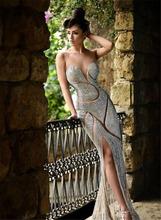 Diseño único de Nueva Bling Bling Sweetheart Celebrity Vestidos Brillante Piso-Longitud Vestido de Noche de Lujo Vestidos de Fiesta Formales Veatidos(China (Mainland))