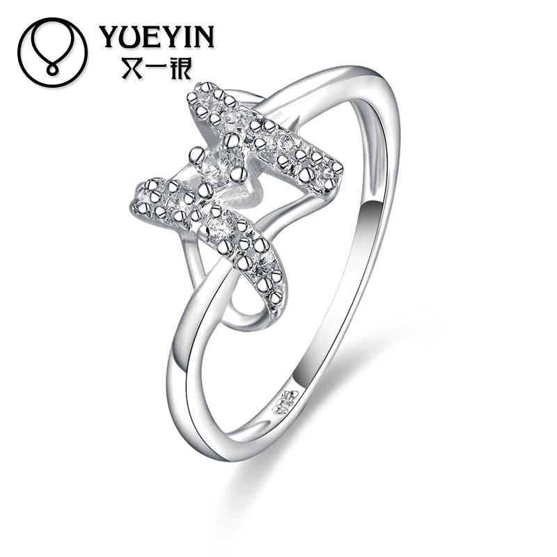 Hot Sale Factory cheap Price R440 925 Silver Rings new design finger ring for Women(China (Mainland))